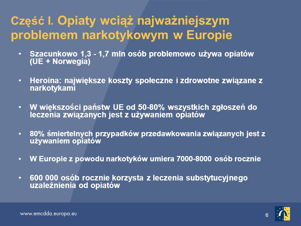 Część I. Opiaty wciąż najważniejszym problemem narkotykowym w Europie