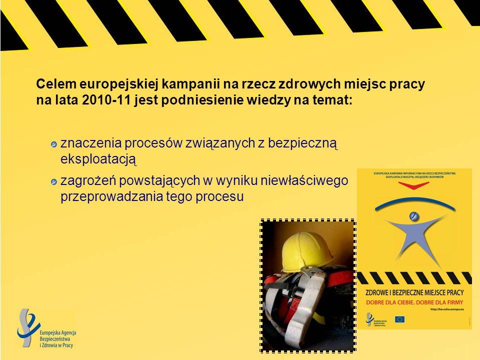 Celem europejskiej kampanii na rzecz zdrowych miejsc pracy na lata 2010-11 jest podniesienie wiedzy na temat: