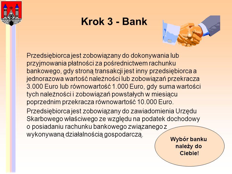 Krok 3 - Bank