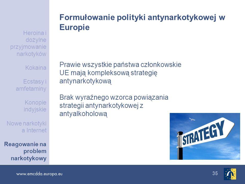 Formułowanie polityki antynarkotykowej w Europie