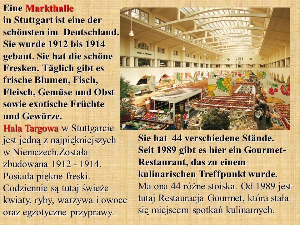 Eine Markthalle in Stuttgart ist eine der schönsten im Deutschland
