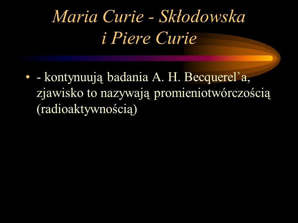 Maria Curie - Skłodowska i Piere Curie