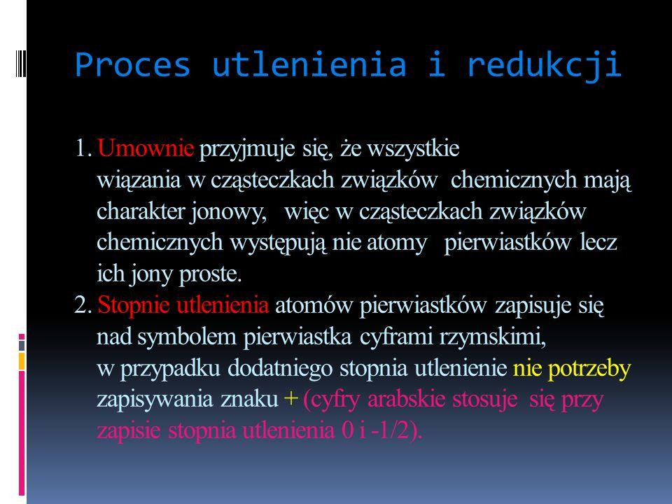 Proces utlenienia i redukcji 1