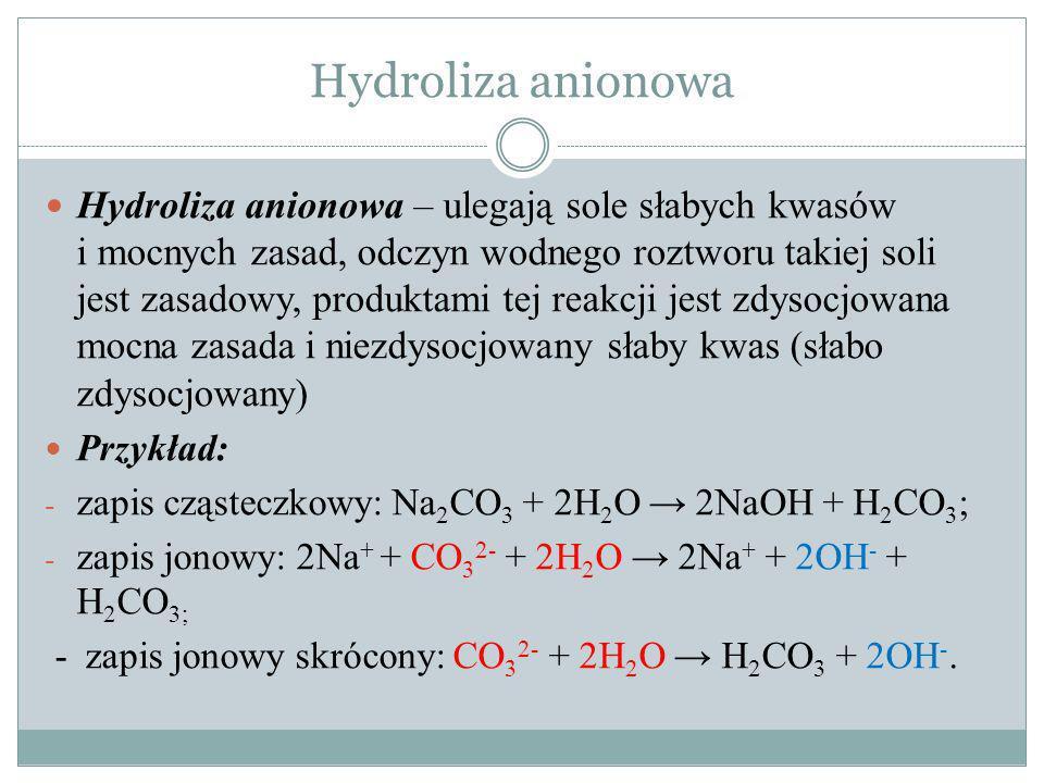 Hydroliza anionowa