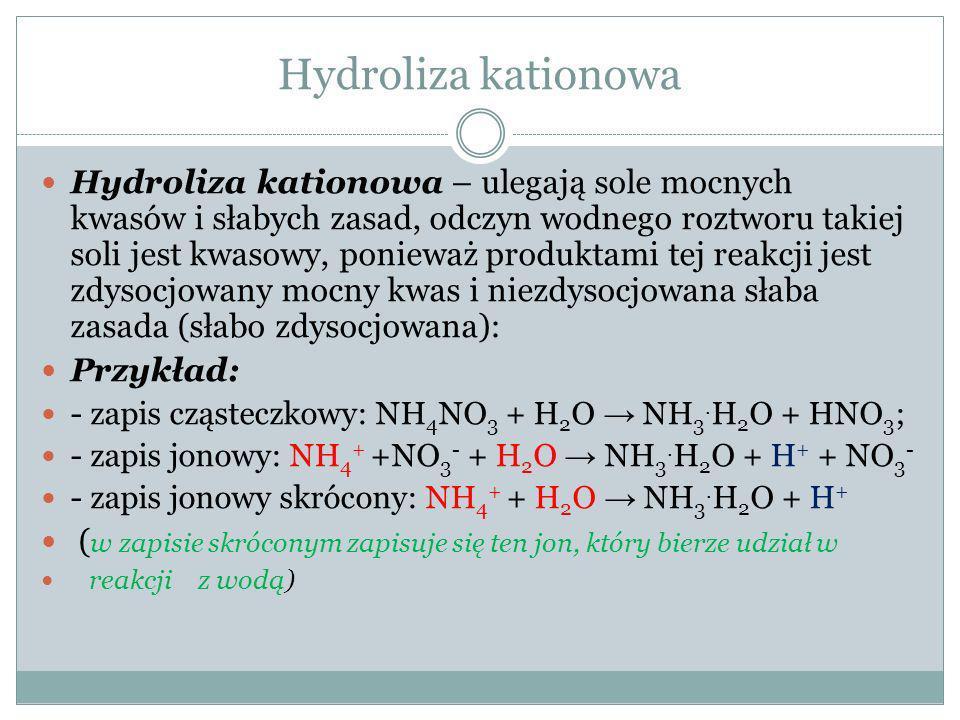 Hydroliza kationowa