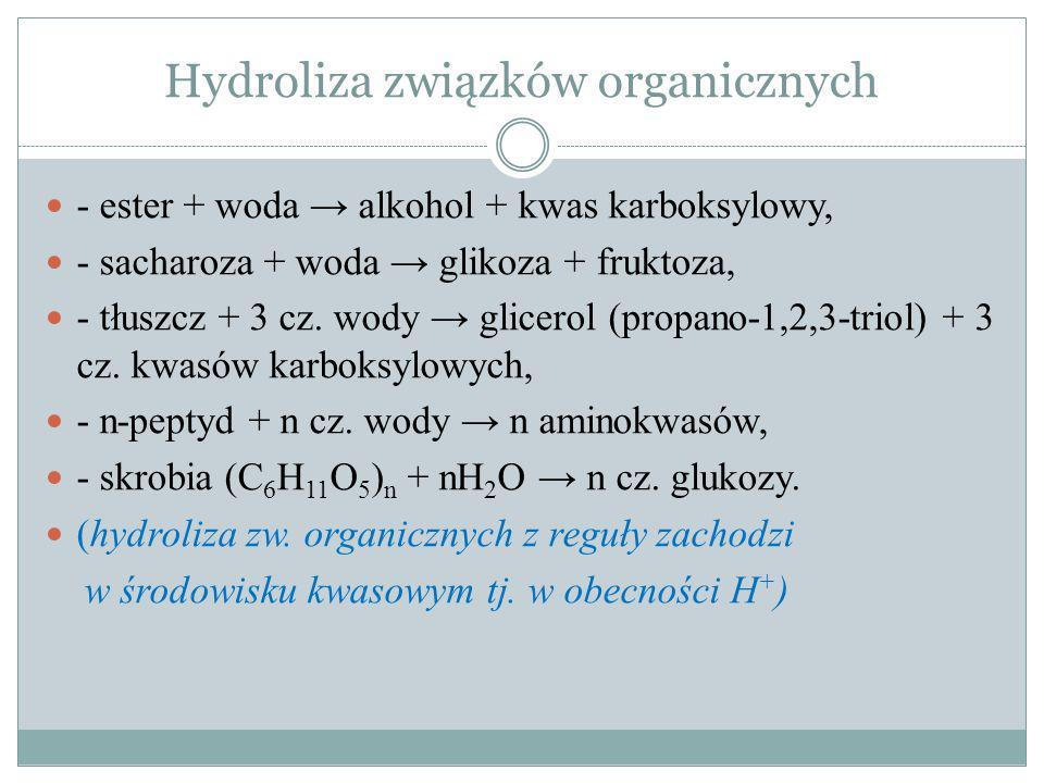 Hydroliza związków organicznych