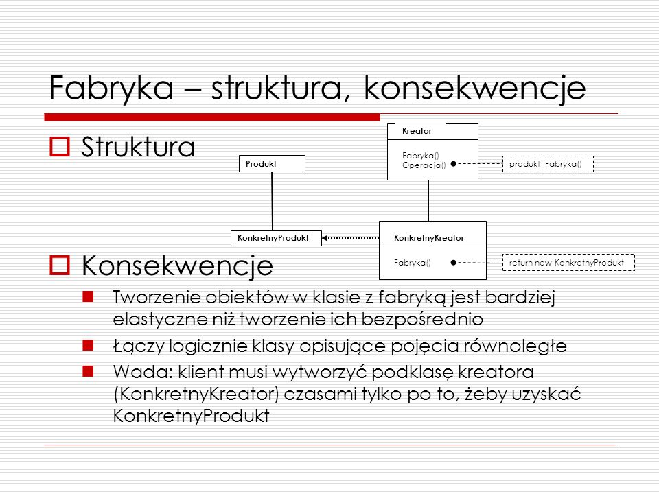 Fabryka – struktura, konsekwencje