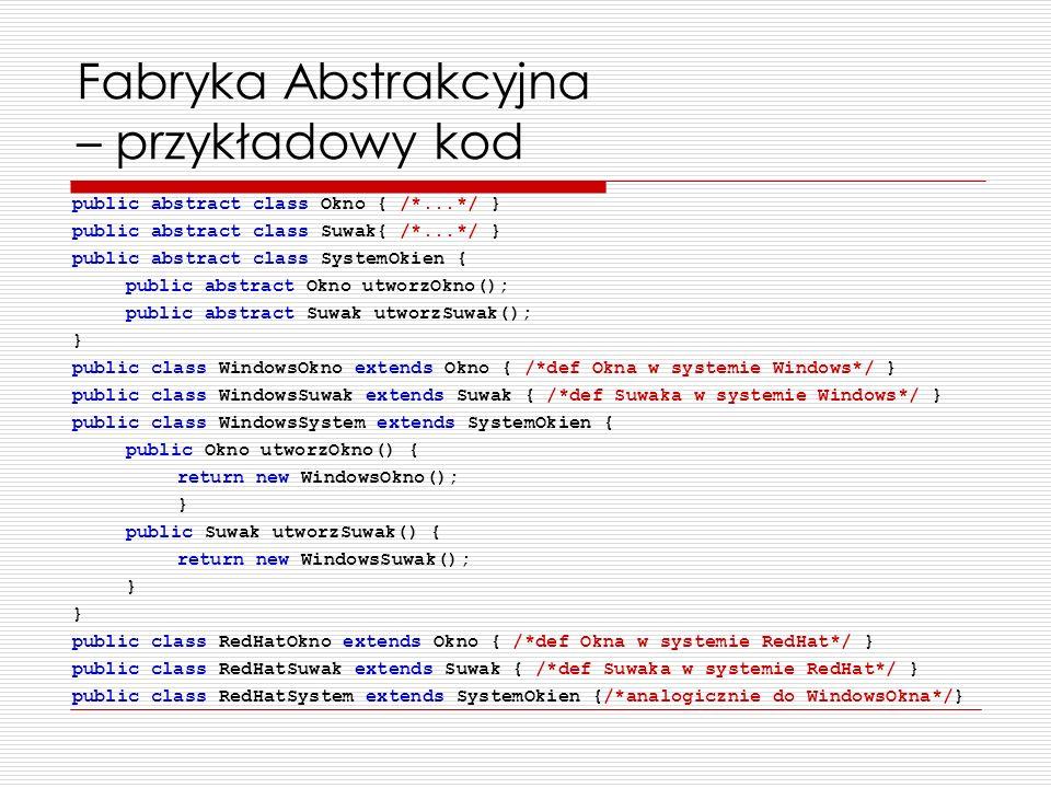 Fabryka Abstrakcyjna – przykładowy kod