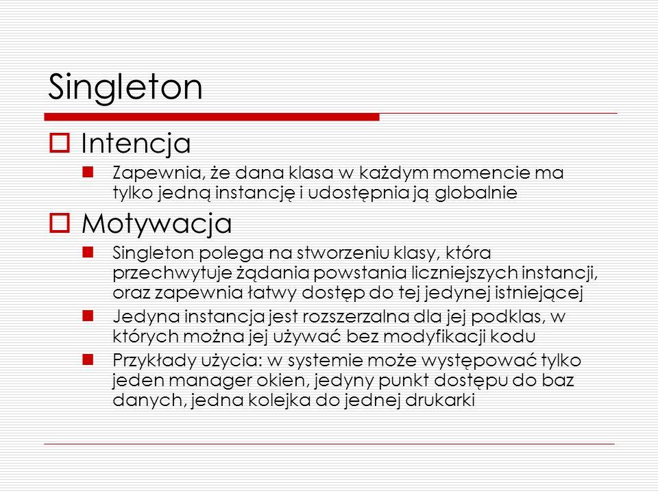 Singleton Intencja Motywacja