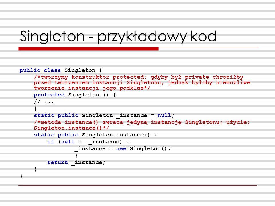 Singleton - przykładowy kod