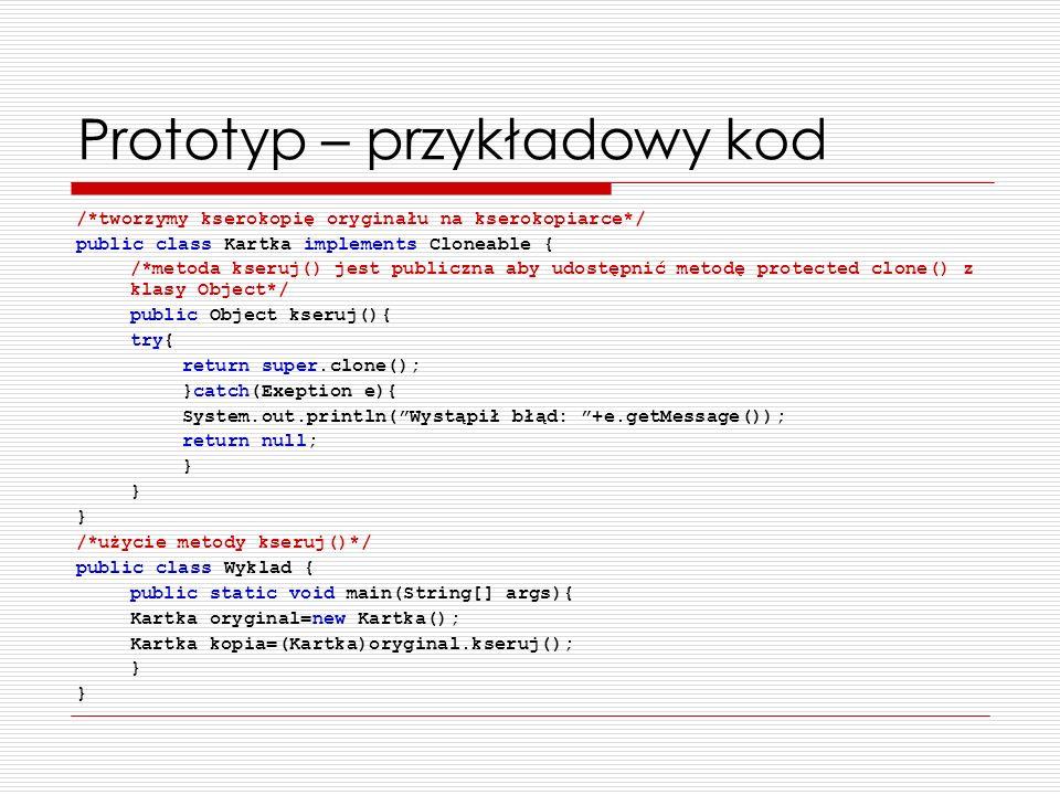 Prototyp – przykładowy kod