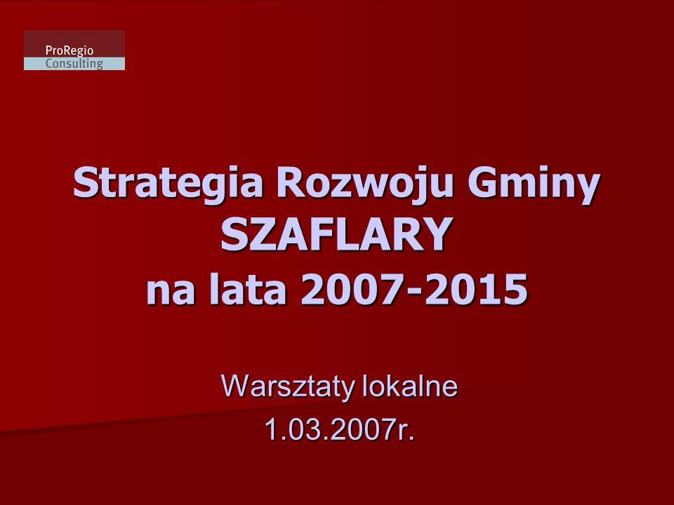 Strategia Rozwoju Gminy SZAFLARY na lata 2007-2015