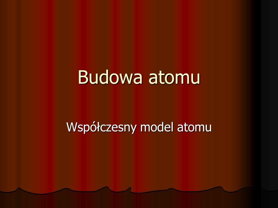 Współczesny model atomu
