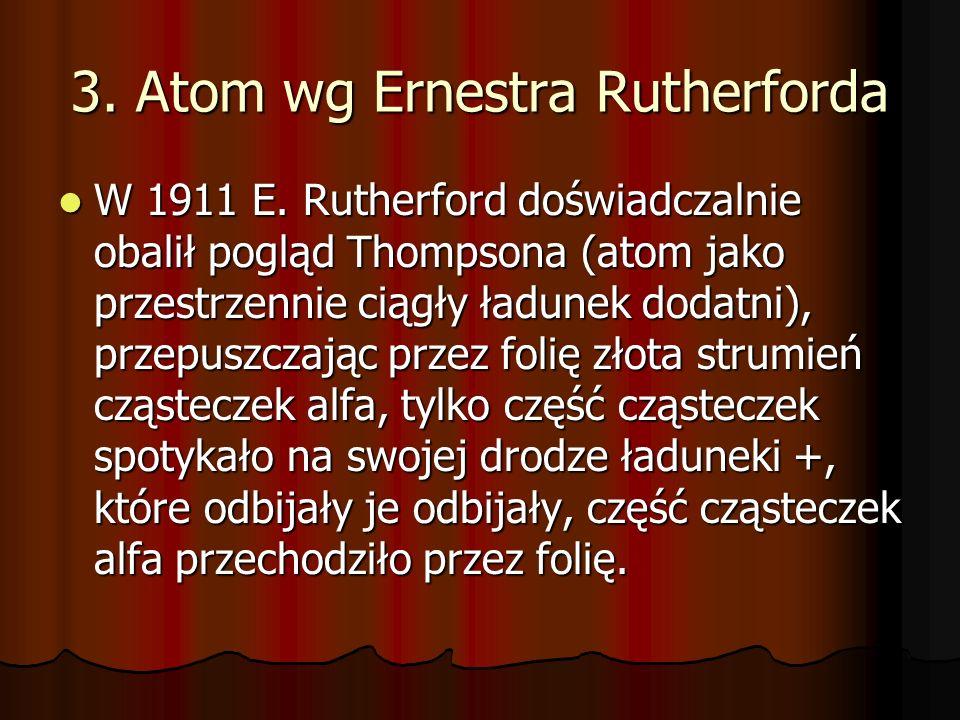 3. Atom wg Ernestra Rutherforda