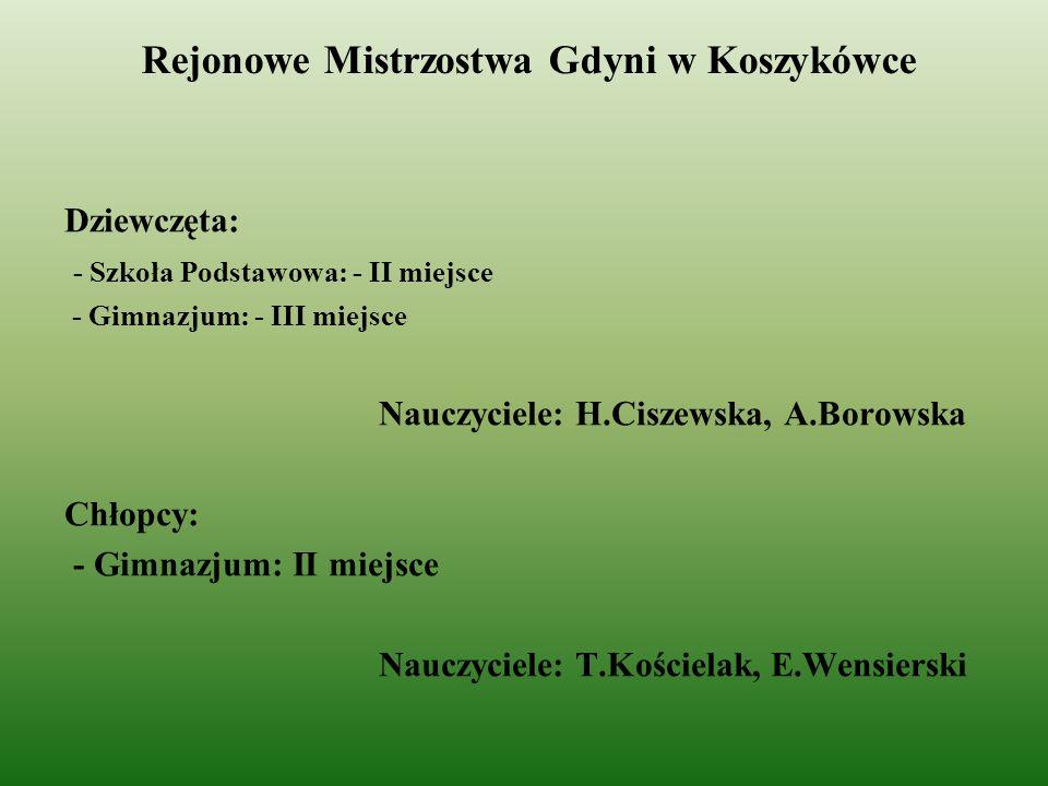 Rejonowe Mistrzostwa Gdyni w Koszykówce