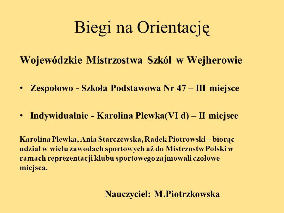 Biegi na Orientację Wojewódzkie Mistrzostwa Szkół w Wejherowie