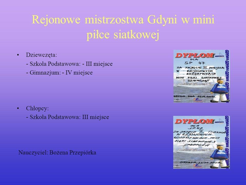 Rejonowe mistrzostwa Gdyni w mini piłce siatkowej