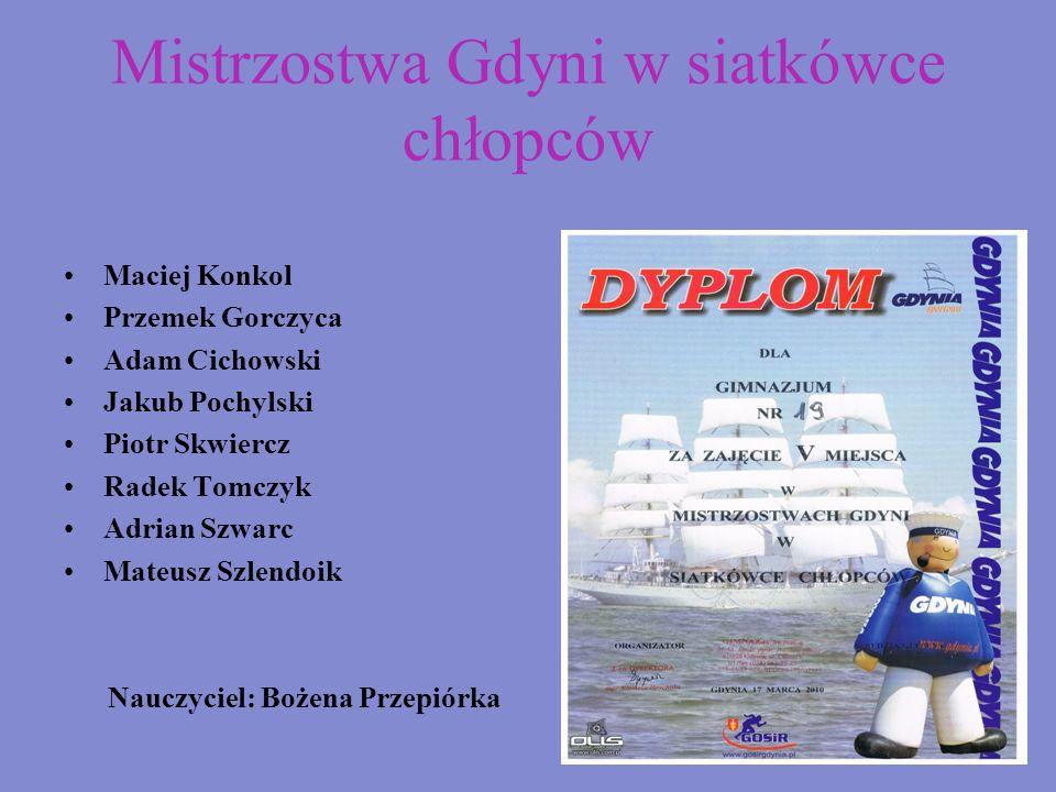 Mistrzostwa Gdyni w siatkówce chłopców
