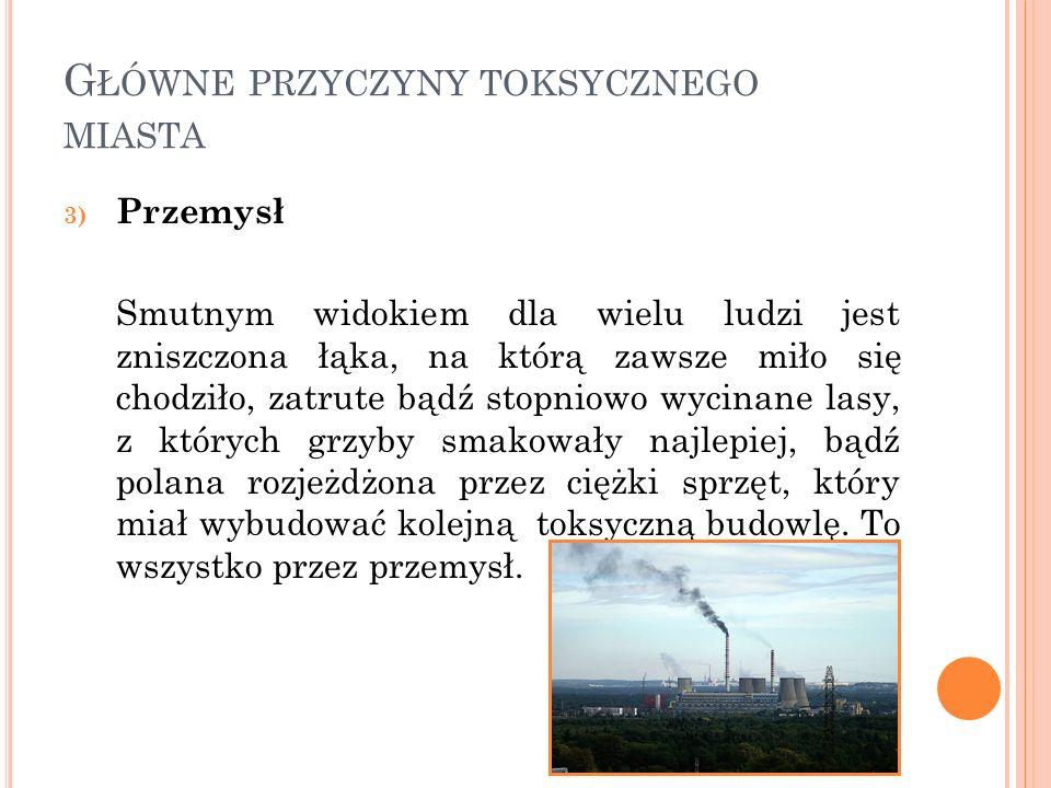 Główne przyczyny toksycznego miasta