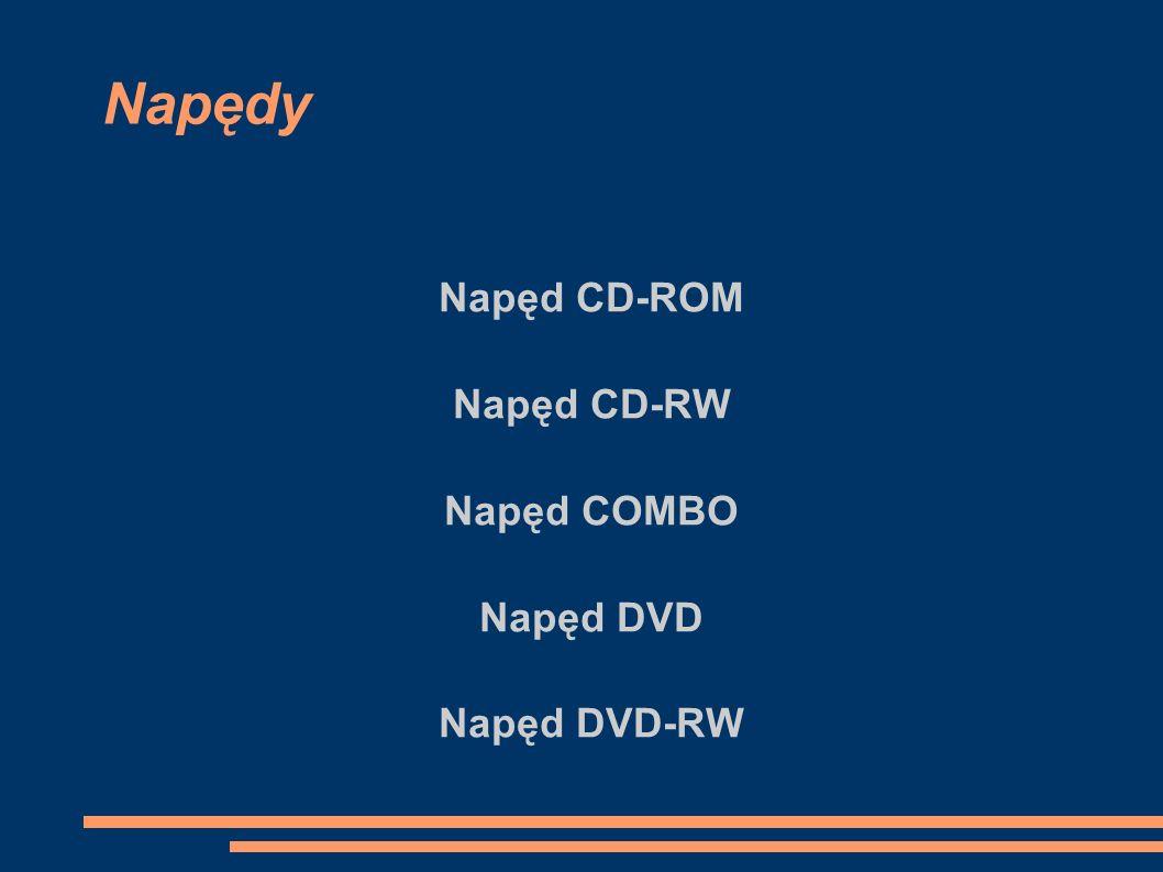 Napęd CD-ROM Napęd CD-RW Napęd COMBO Napęd DVD Napęd DVD-RW