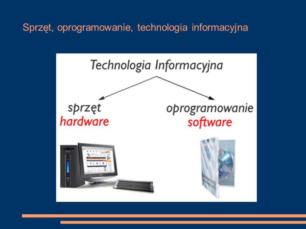 Sprzęt, oprogramowanie, technologia informacyjna