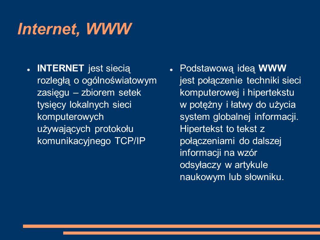 Internet, WWW
