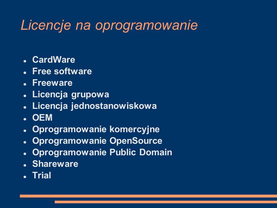 Licencje na oprogramowanie