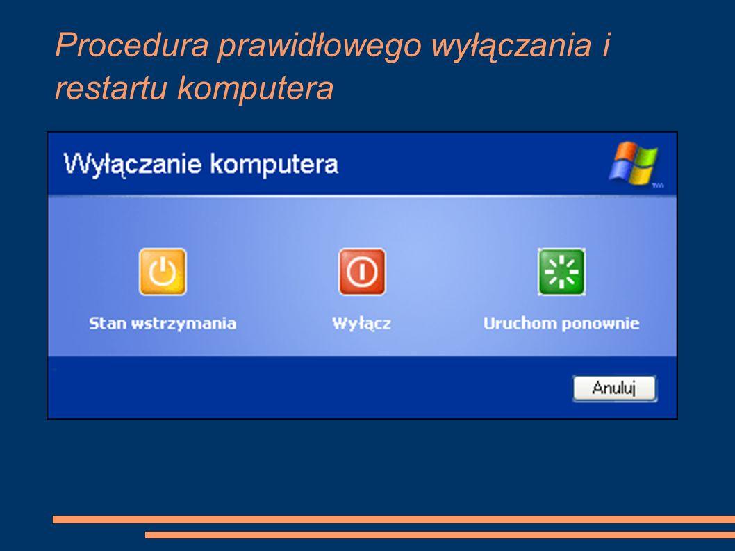Procedura prawidłowego wyłączania i restartu komputera