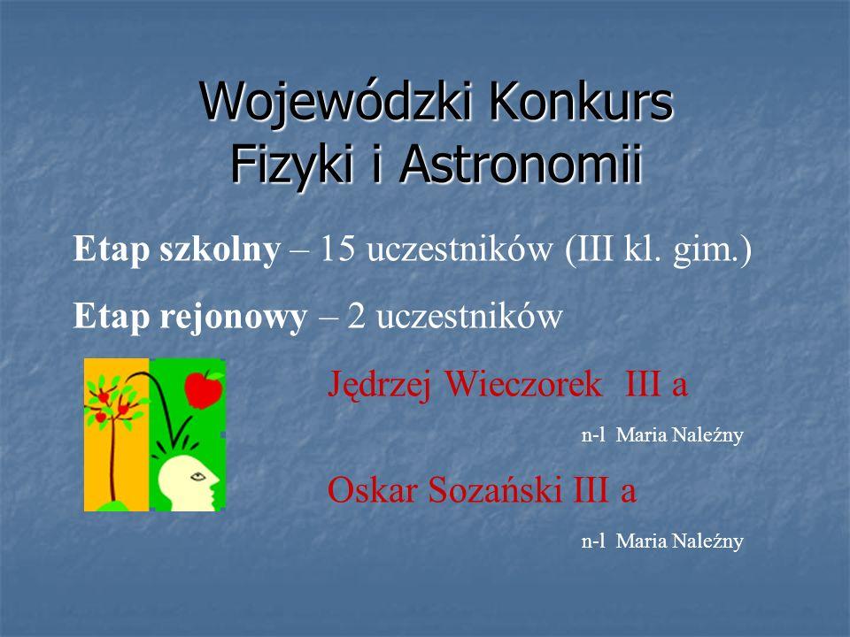 Wojewódzki Konkurs Fizyki i Astronomii