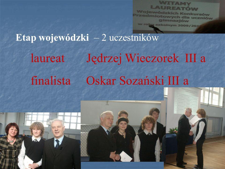finalista Oskar Sozański III a