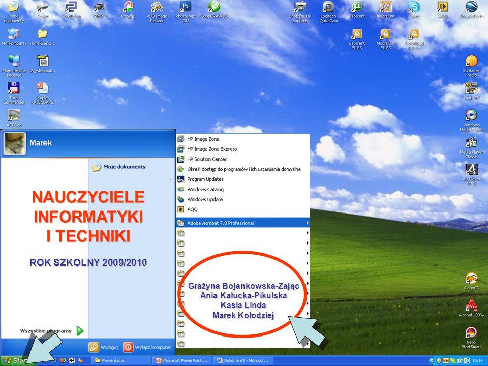 NAUCZYCIELE INFORMATYKI I TECHNIKI ROK SZKOLNY 2009/2010