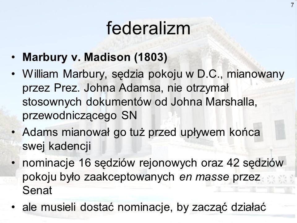 federalizm Marbury v. Madison (1803)