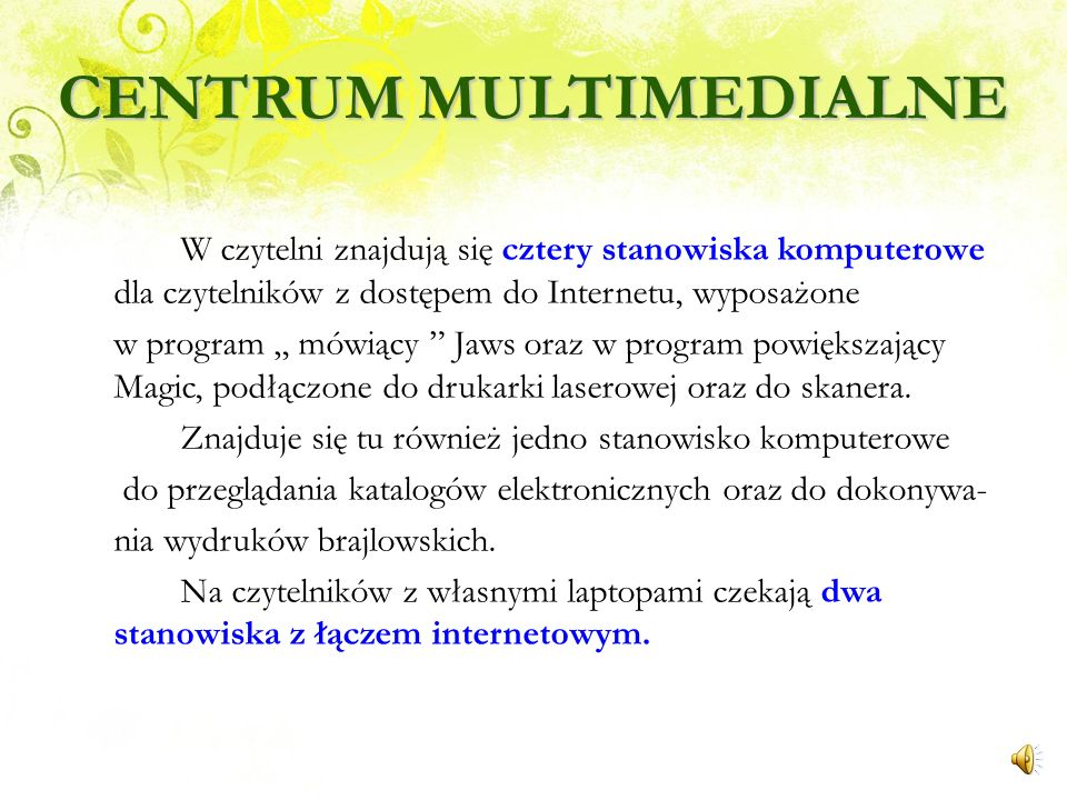 CENTRUM MULTIMEDIALNE