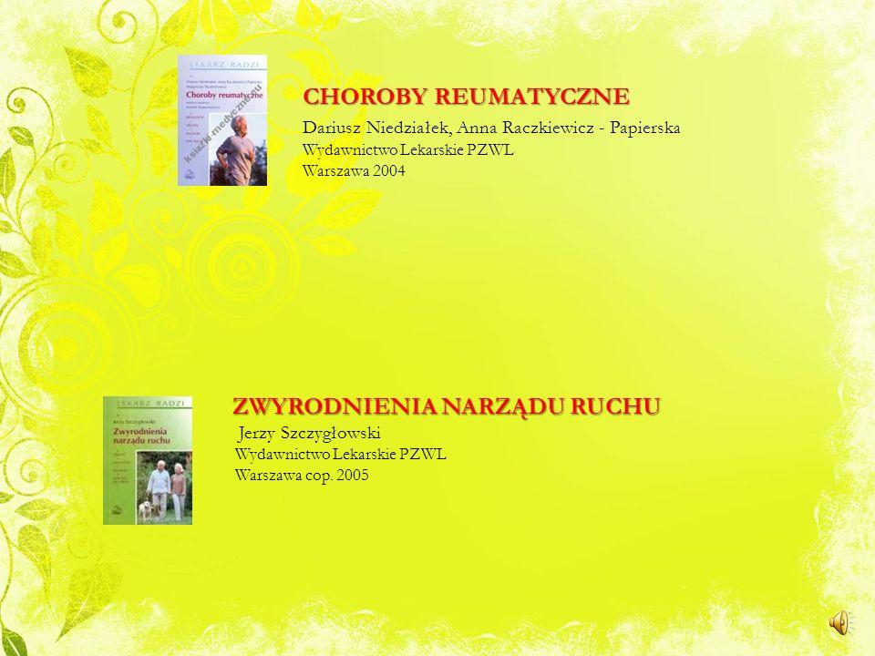 CHOROBY REUMATYCZNE. Dariusz Niedziałek, Anna Raczkiewicz - Papierska