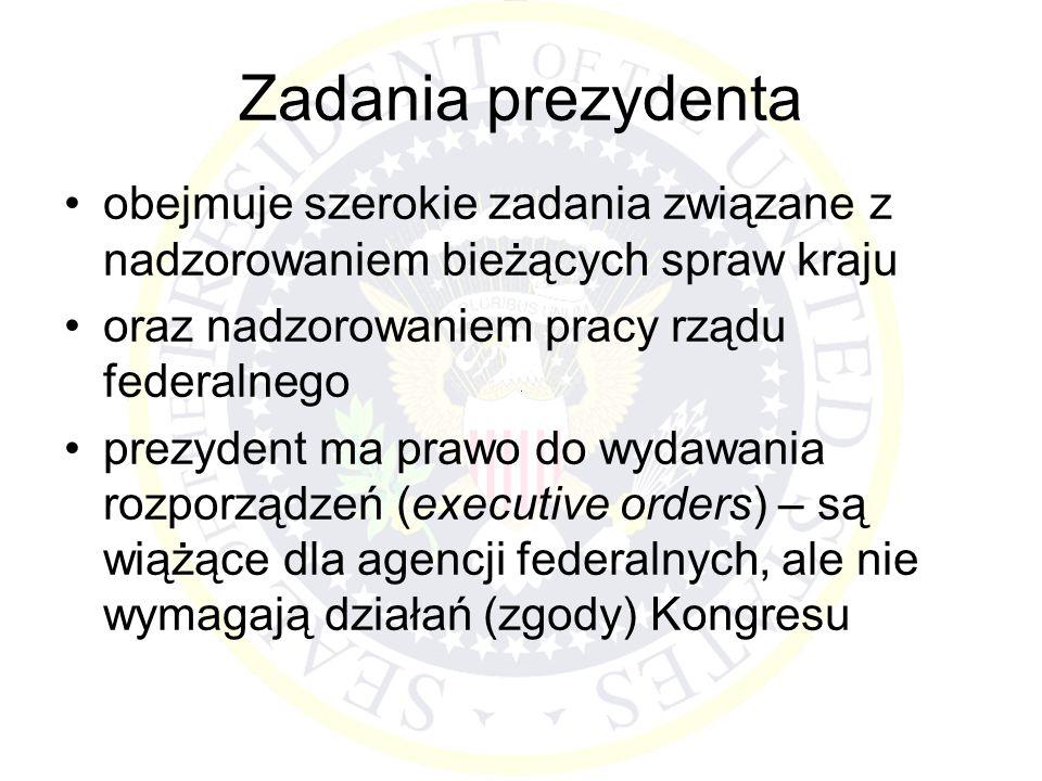 Zadania prezydenta obejmuje szerokie zadania związane z nadzorowaniem bieżących spraw kraju. oraz nadzorowaniem pracy rządu federalnego.