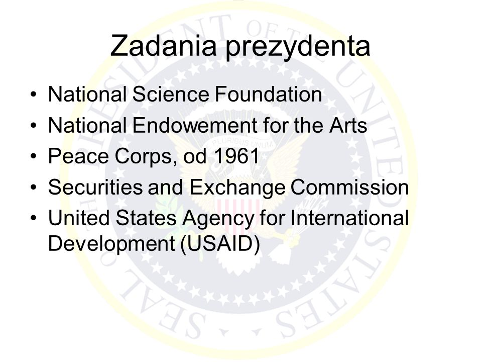 Zadania prezydenta National Science Foundation