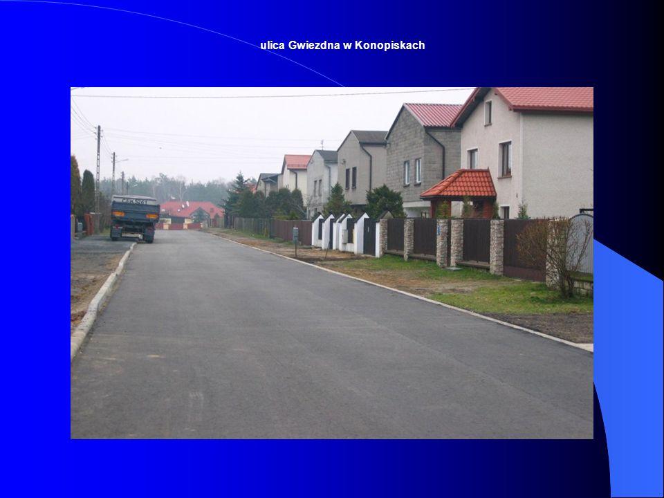 ulica Gwiezdna w Konopiskach