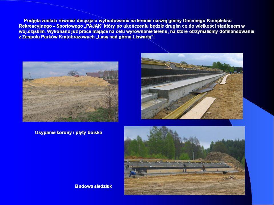 Podjęta została również decyzja o wybudowaniu na terenie naszej gminy Gminnego Kompleksu