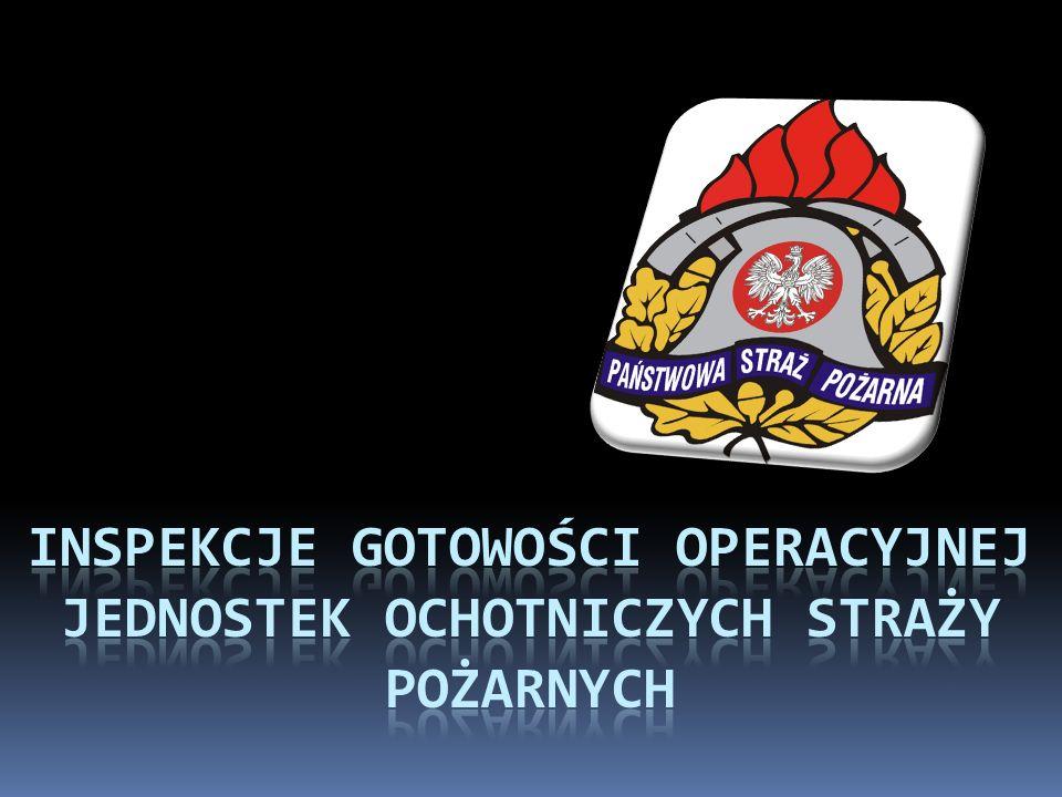 INSPEKCJE gotowości operacyjnej Jednostek Ochotniczych straży pożarnych