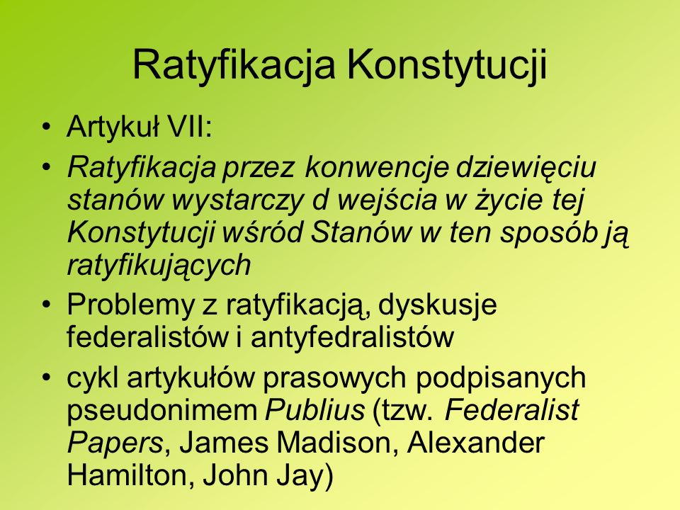 Ratyfikacja Konstytucji