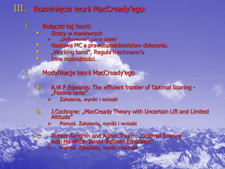 Rozwinięcie teorii MacCready'ego: