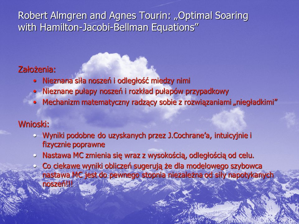 "Robert Almgren and Agnes Tourin: ""Optimal Soaring with Hamilton-Jacobi-Bellman Equations"