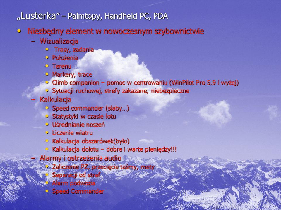"""""""Lusterka – Palmtopy, Handheld PC, PDA"""