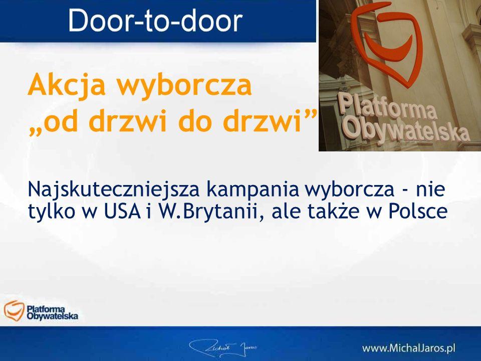 """Akcja wyborcza """"od drzwi do drzwi"""