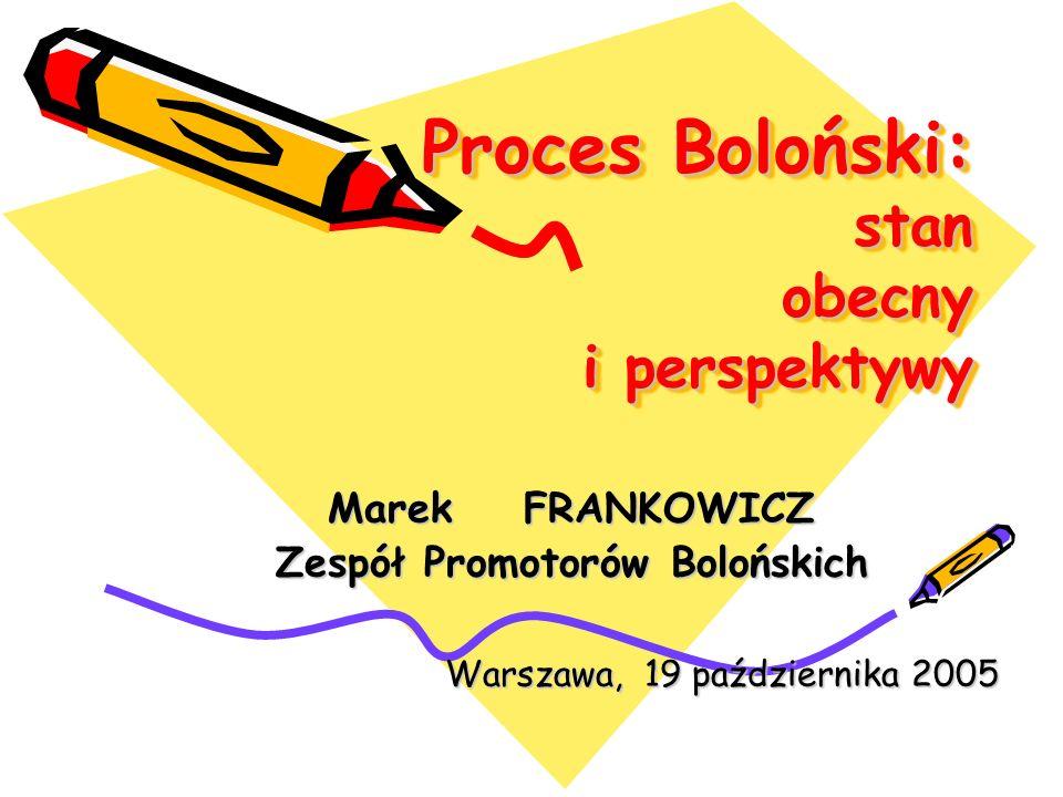 Proces Boloński: stan obecny i perspektywy