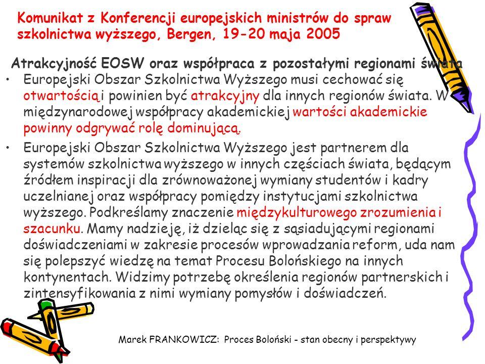 Atrakcyjność EOSW oraz współpraca z pozostałymi regionami świata