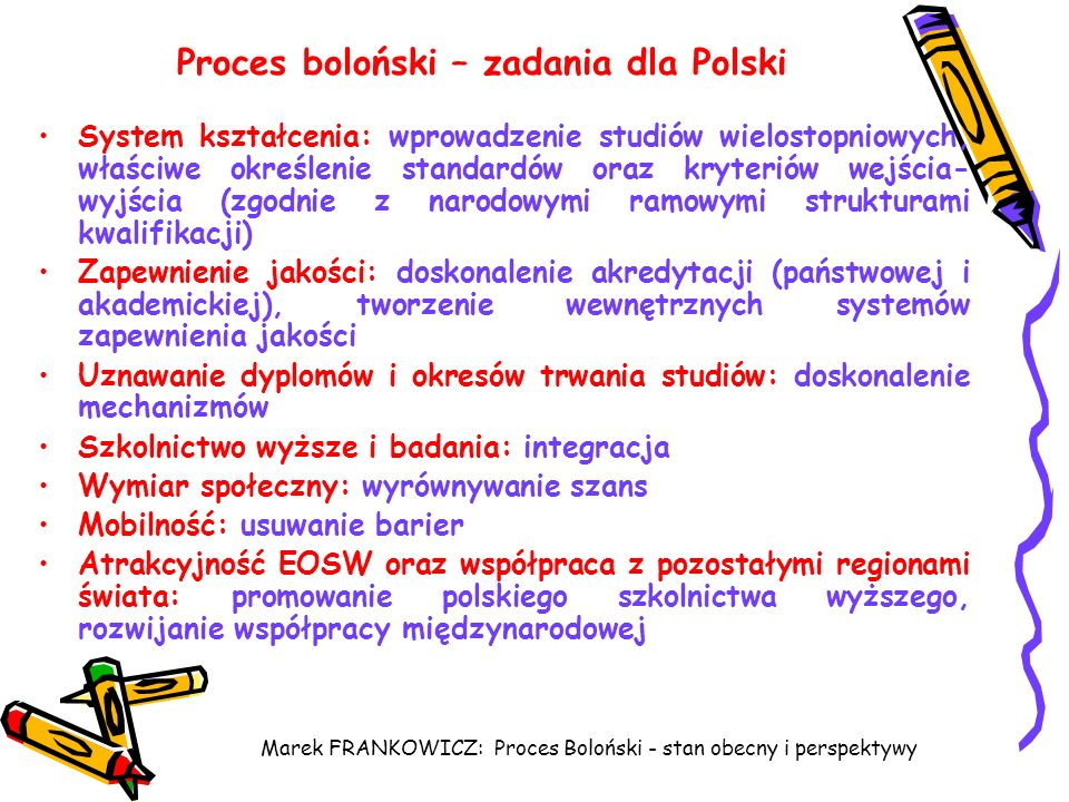 Proces boloński – zadania dla Polski