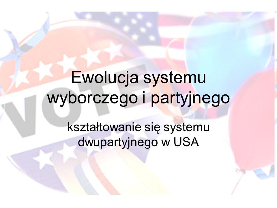 Ewolucja systemu wyborczego i partyjnego