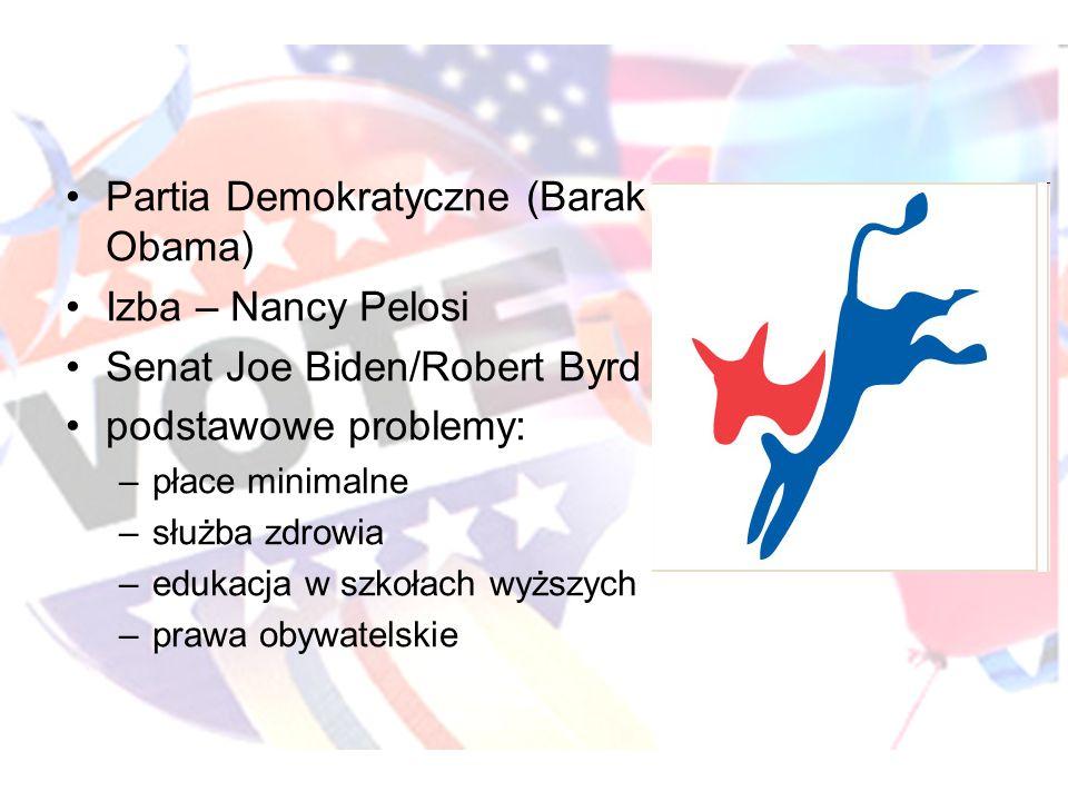 Partia Demokratyczne (Barak Obama) Izba – Nancy Pelosi