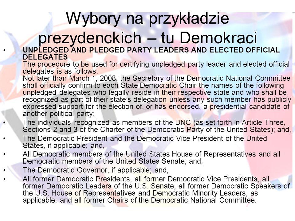 Wybory na przykładzie prezydenckich – tu Demokraci